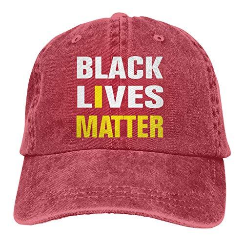 LsjueeGorra para Hombres y Mujeres, Gorra de Mezclilla Ajustable de algodón Unisex de Black Lives Matter