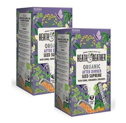 Heath & Heather Infuso Biologico Digestivo con Semi di Finocchio e Coriandolo Senza Caffeina - 2 x...
