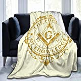 YGD-njs Masonic Symbols Freemasonry Soft and Warm Throw Blanket Plush Bed Couch Living Room Fleece Blanket 50'x40'60'x50'80'x60'