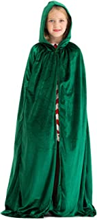 Deluxe Velvet Cloak/Cape with Lined Hood for Kids(47.3 inches)