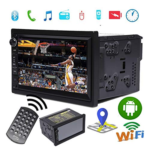 Review 7 inch 1080P HD Digital Touchscreen Bluetooth Car Radio Support WiFi Navigation Rear View AUX...