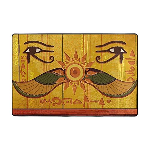 NA Alfombra de área Antiguo Egipto Cultura egipcia Antideslizante Estera cómoda Alfombra...