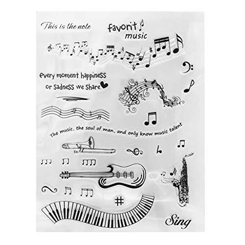 Xurgm Music Notes Clear Stamps -Silikon Stempel - Prägung Stempel - DIY Dekoration Stanzen - Stempel Silikon - DIY Stamp - Stempel Prägung - Made in China