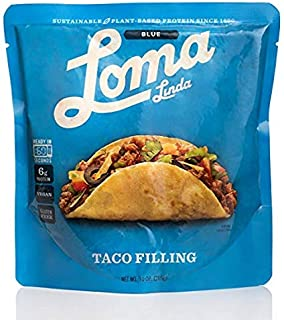 Loma Linda Vegan Taco Filling Plant Based Protein 60 Second Microwavable Pouch 10oz 1 pack