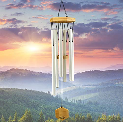 WIND CHIMES FOR PEOPLE WHO LIKE THEIR NEIGHBORS Soothing Melodic Tones amp Solidly Constructed Bamboo/Aluminum Chime Great as a Quality Gift or to keep for Your own Patio Porch Garden or Backyard