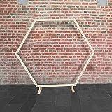 SKYLANTERN Mariage Arche - Arche Mariage Bois Hexagonale 1.70M - Arche en Bois pour décoration de Mariage - Arche Kit pour Ceremonie Laique - Montage Facile - Stock en France