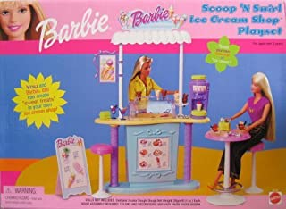 Barbie Scoop `N Swirl Ice Cream Shop Playset w Ice Cream Counter & MORE! (2000)