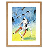 PAINTINGS PORTRAIT JAZZ DANCE MAQUETTE DECO COLIN COOL FRAMED ART PRINT B12X7035 -