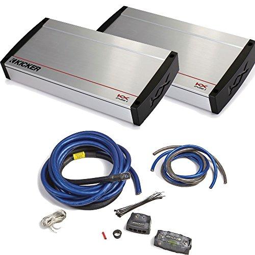 Kicker KX Amplifier Package - Two Kicker KX-Series 2400 Watt Monoblock Amplifiers and 1/0 Gauge Dual-amp Wiring kit
