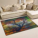 SunsetTrip - Alfombra para sala de estar, dormitorio, antideslizante, moderna, suave, lavable, 152,4 x 99,1 cm