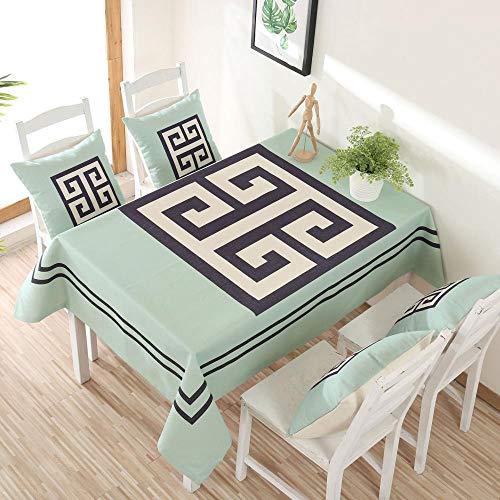 MIDUO Nordic Deer Dicke Baumwoll-Tischdecken für Zuhause, Fernsehschrank, Couchtischdecke, Tischdecke, Esstisch, Labyrinth, 140 x 180 cm