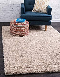 Unique Loom Solo Solid Shag Collection Modern Plush Taupe Area Rug (10' 0 x 13' 0) (B01EZ882P2) | Amazon price tracker / tracking, Amazon price history charts, Amazon price watches, Amazon price drop alerts