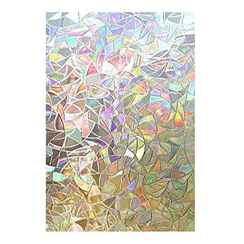 Somedays Pelicula Cristal Vinilos Decorativos Película Ventana Decorativa Adhesivo Película de Vidrio Privacidad Vidriera Película autoadhesiva Etiqueta de Vidrio Anti UV 45 100 cm