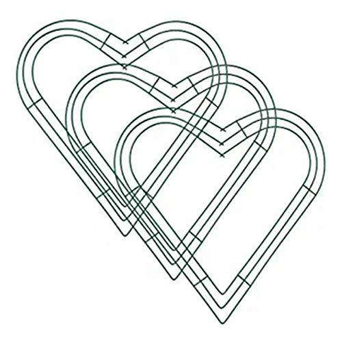 Senmubery 3 Paquetes Corona de Metal de CorazóN Marco de Guirnalda de Alambre en Forma de CorazóN de 12 Pulgadas para Manualidades Caseras del DíA de San ValentíN de la Boda