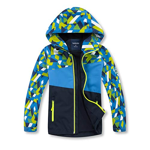 OLEK Boys Rain Jackets Outdoor Waterproof Windproof Jacket Raincoat Light Windbreaker for Camping Hiking Running