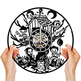 Exquisite Horror Movies Vinyl Clock | Designed in Brooklyn | Limited Edition | by Monteviasco