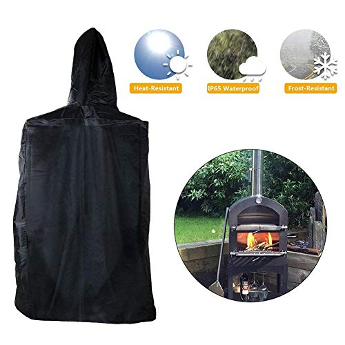 aheadad Cover for Pizza Oven Heavy-Duty Outdoor Pizza Oven Cover Weatherproof Protective Cover Weather Resistant, Dust-Proof Perfect to Protect Against Any Weather-Black