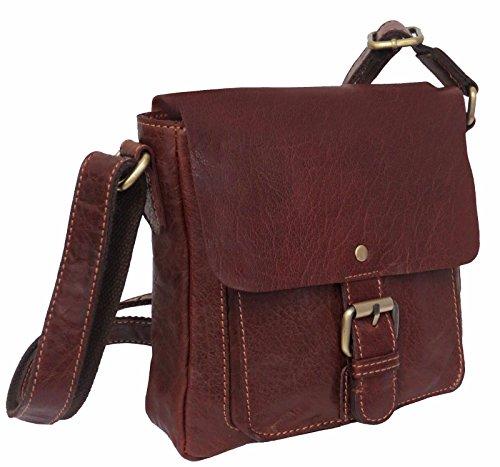 Rowallan Bronco Cognac - Bolso de mano con bolsillo frontal, color marrón