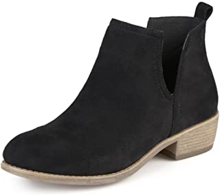 Journee Collection Womens Round Toe Faux Suede Boots