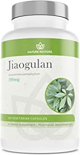 Jiaogulan Extract Supplement, Our Gynostemma Pentaphyllum is Standardized to 98 Percent Gypenosides, Natural AMPK Activato...