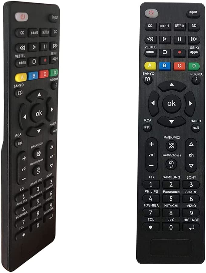 MYHGRC Universal Remote Control for Insignia/Sanyo/Sharp/Samsung/Sony/Hisense/Panasonic/Philips/Toshiba/LG Smart TVs and More, Setup Easily