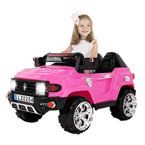 Review USINFLY 2 Seater Kids Electric Car, Parent Control Ride on Car 3 Speeds, Spring Suspension, L...