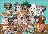 CYBERNOVA 1000 Piezas Rompecabezas Canine Cuties Intellectual Game