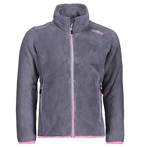 CMP Mädchen Highloftjacke 38P1465 Fleece, Graffite, 164