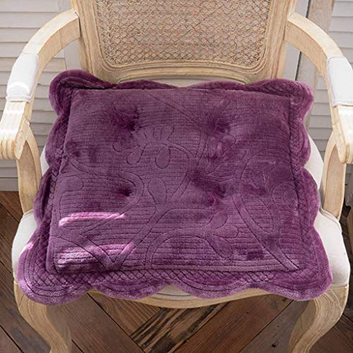 ILMF Flannel Cushion, Soft Non Skid Comfort Seat Cushion Breathable Chair Pad Great for Car Seats Garden Office Chairs-48x48cm(19x19inch) 1 Pack-L