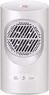 FBGood - Ventilador oscilante portátil con Mini Calentamiento con protección antirrobo, Mini radiador soplador cerámico, Blanco, Blanco
