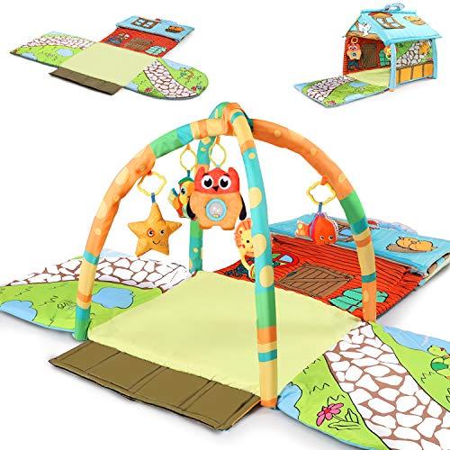 Kosiy Tiny Wonders - Alfombrilla de gimnasio para bebé, para interiores y niños, para bebés y niñas