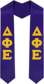 Delta Phi Epsilon DPHIE New Greek Lettered Graduation Sash Stole