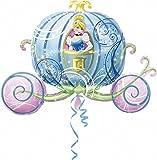 """Anagram- Pallone Foil Supershape 33""""""""-84 cm Carrozza Cenerentola, Multicolore, 7A2646301"""