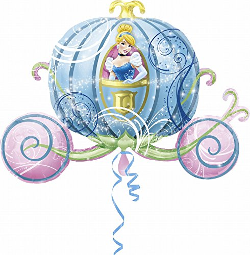 Cinderella Carriage Balloon - 33 Inch Foil Mylar Cinderella Balloon