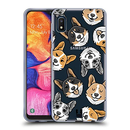 Head Case Designs Corgi Dog Head Patterns Soft Gel Case and Matching Wallpaper Compatible with Samsung Galaxy A10e (2019)
