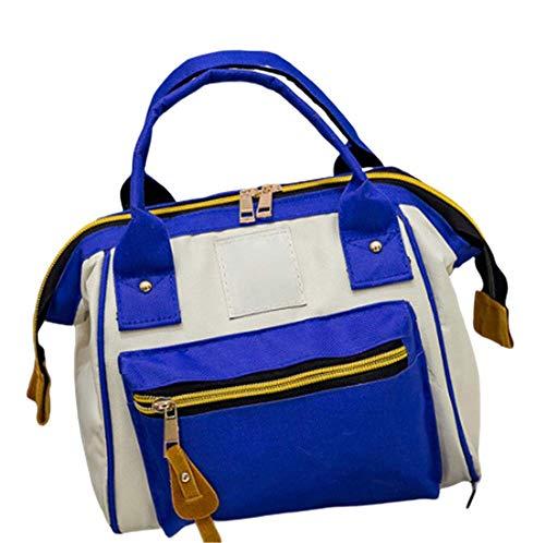 AFGUIH Backpack Borsa A Mano Borsa Zaina Zaina Zaina Zaina Per Lo Zaino Con Spalla Sloping Multicolore Sloping Shoulder Bag Solid Color College Style Student Backpack Sbiancamento blu