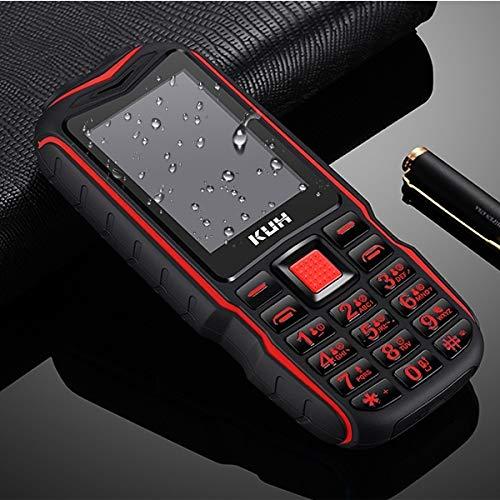 KUH T3 Rugged Phone 2.4 Inch Bluetooth Dual SIM FM 32MB+32MB Torch 2400mAh Rosso