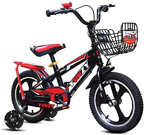 DFBGL Bicicletas para niños de 12/14 Pulgadas Bicicleta para niños para Aprender a Andar en Bicicleta Bicicleta para niños y niñas de 2 a 5 años con Ruedas de Entrenamiento, Frenos de ma
