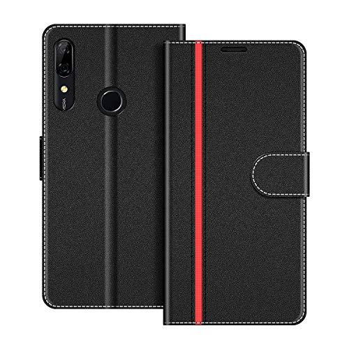 COODIO Handyhülle für Huawei P Smart Z Handy Hülle, Huawei P Smart Z Hülle Leder Handytasche für Huawei P Smart Z Klapphülle Tasche, Schwarz/Rot