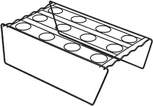 Macabolo Présentoir conique en acier inoxydable avec cône 12 loch Noir