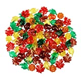100PCS Acrylic Leaves Mini Pumpkins Acorns Maple Leaves Acrylic Fall Decorations, Thanksgiving Table Scatter Fall Vase Filler Gems for DIY Crafts, Home Decoration, Thanksgiving and Autumn Decor