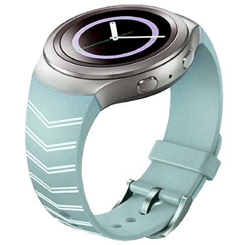 Kolylong Herren Uhr Sportuhr Silikon Band für Samsung Galaxy Gear S2 SM-R720 Uhrenarmband 3
