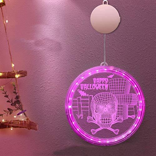 Ybzx Cadena de Luces de Hadas, Cadena de Luces con Pilas, Luces LED de Calabaza, Decoraciones de Fiesta de Halloween para el Bar del jardn del Dormitorio