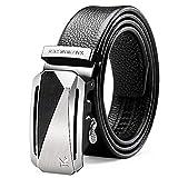 Xme Cinturón de hebilla automático para hombres, cinturón de negocios para jóvenes, cinturón casual