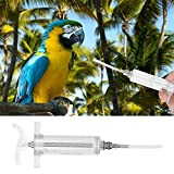 HEEPDD Jeringa para la alimentación de Aves, Loro, jeringa para la alimentación de Manos, prevención de epidemias, Tratamiento de inyector para Aves jóvenes o Aves enfermas(50ML)