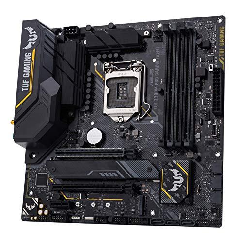 ASUS TUF Z390M-PRO Gaming Wi-Fi Scheda Madre Gaming Intel Z390 mATX con OptiMem II, Aura Sync RGB, Supporto DDR4 a 4266+ MHz, 32 Gbps M.2, Predisposizione Memoria Intel Optane e USB 3.1 Gen 2 Nativa