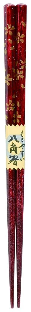 磨かれた複雑でない気絶させるカワイ 箸 食洗器対応 八角箸 桜組 赤 21cm 102597
