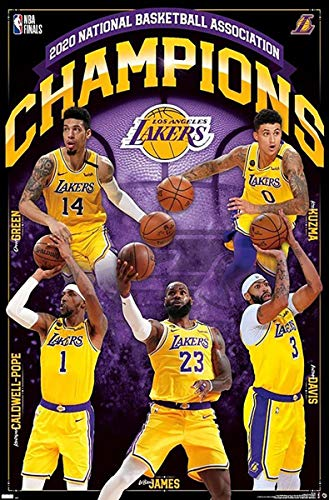 Close Up 2020 NBA Finals Champions Poster, Los Angeles Lakers (56,8cm x 86,4cm)