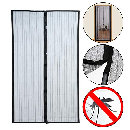 Insektenschutz 210 x 100 cm Türvorhang Magnet Vorhang Fliegengitter 2 teilig für Terrassentüren Balkontüren Zimmertüren Innen- u. Außen anwendbar