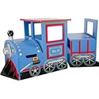 Teamson Kids Train Vehicles Writing Desk With Storage Bench Set